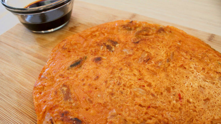 Full of flavour, kimchi pancakes are quick and easy.