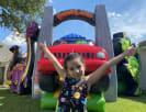 Dinosaur Land Playzone Bounce House Combo