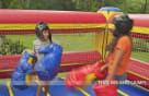 kids bouncy boxing with Big Boxing Gloves