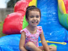 Rainbow themed Water Slides for Kids