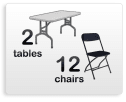 2 tables 12 chairs package