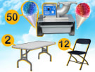 Snow Cone Machine Table and Chairs