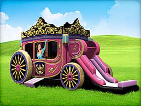 Princess Carriage Moonwalk with Slide