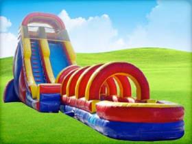 20ft Rainbow Screamer Slide w/ Slip N Slide