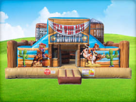 Rodeo Front View Cowboy Bounce House Rentals