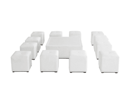 Square furniture set for 12