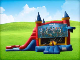 Fortnite 3in1 with Moonwalk Slide Bounce House