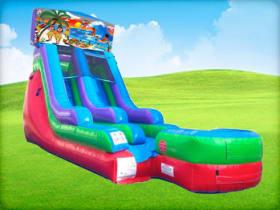 15ft Hawaiian Retro Wet/Dry Slide