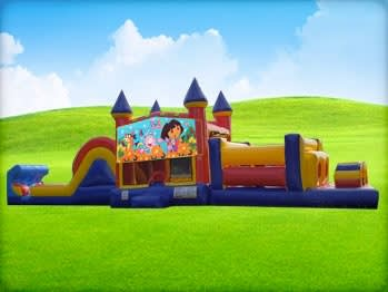 50ft Dora Obstacle w/ Wet or Dry Slide