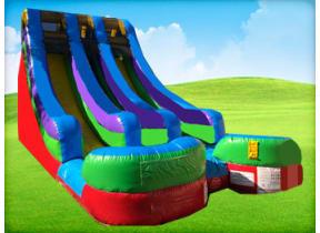 18ft Double RETRO (Dry/Wet) Slide