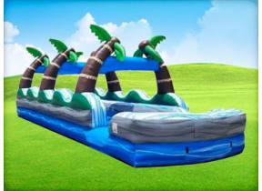 35' Tropical Palm Dual Lane Slip N Slide