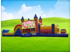 50ft Strawberry Shortcake Obstacle w/ Wet or Dry Slide