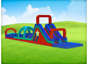 75ft All Stars Adventure Obstacle w/ Dry Slide