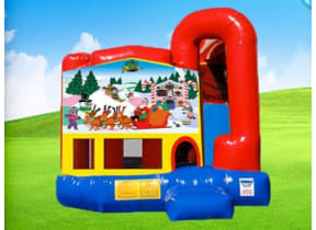 4in1 Christmas Bounce House w/ Wet or Dry Slide