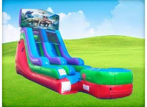 15ft Dinosaur Retro Wet/Dry Slide
