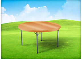 4ft Round Kids Table