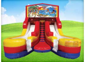 16ft Tropical Hawaiian Double (Wet/Dry) Slide