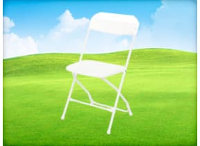 White Folding Chair Rental