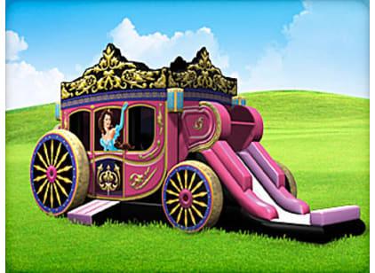 Girls Princess Carriage Bounce House