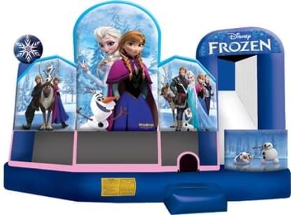 Frozen 5in1 Bounce House w/ (Wet or Dry Slide)