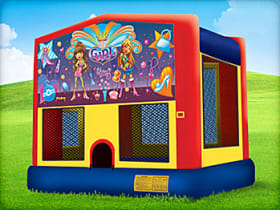 Girl bounce house