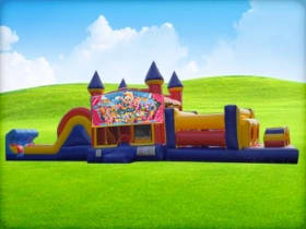 50ft Shopkins Obstacle Course w/ Wet or Dry Slide