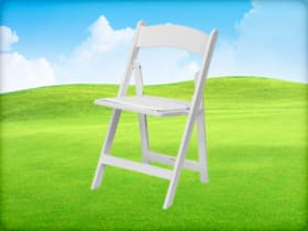 White Resin Folding Chair Rental Houston