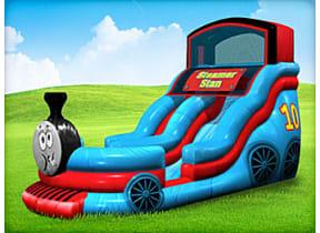 18ft Stanley Steamer Train Slide (Wet & Dry)