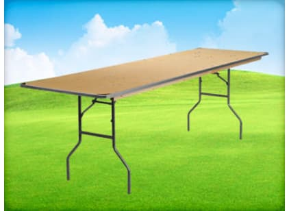 8ft Banquet Tables for rent