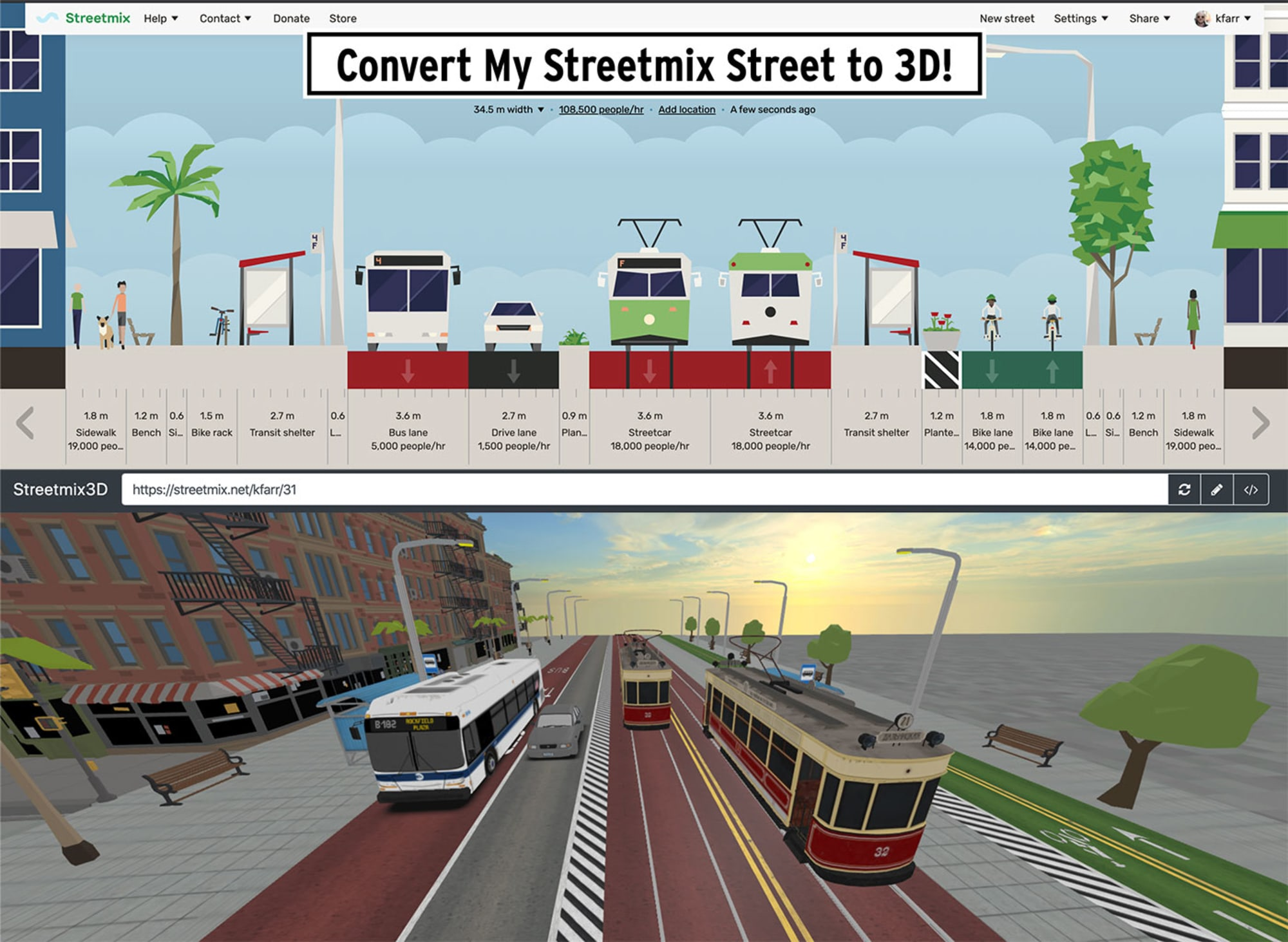 3D Streetmix visualisations