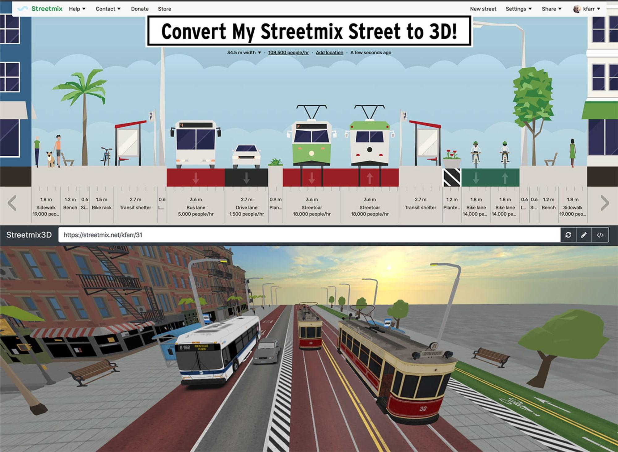 3D Streetmix visualisations