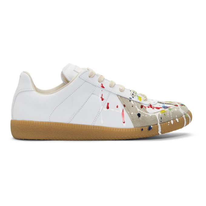 outlet 2014 newest sale very cheap Maison Margiela White Paint Splatter Replica sneakers exclusive sale online factory outlet online free shipping cheap price gCAQJclIam