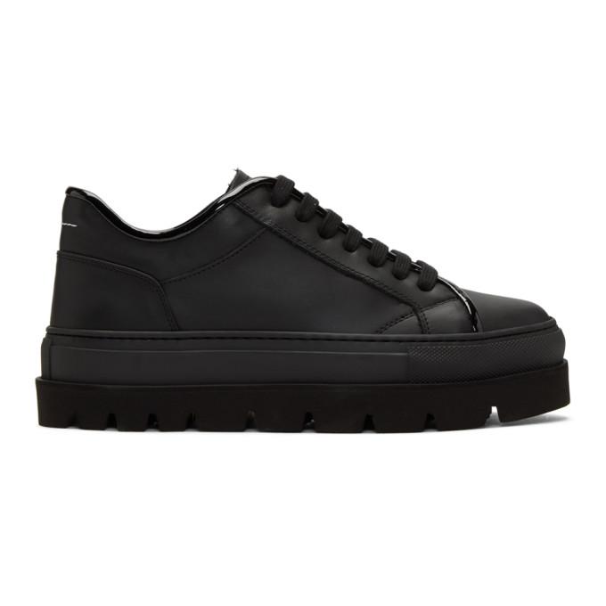 Black Leather Flatform Sneakers Maison Martin Margiela Recommend Discount Cheap Sale Big Sale 8LYj68L
