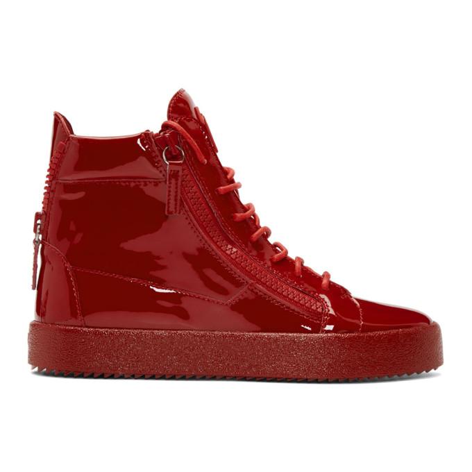 Red Patent May London High-Top Sneakers Giuseppe Zanotti G1KhQyhwAq
