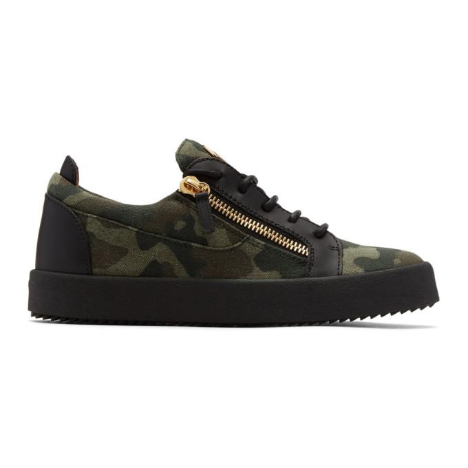 Giuseppe Zanotti Khaki Camo May London Sneakers k3ZNGWm
