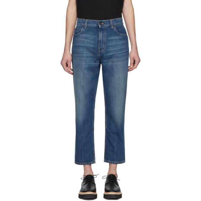 Jeans Ajustement Libre Fanées - Stella Mccartney Bleu YHhHr