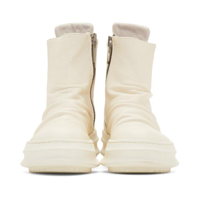 Obtenir De Nouvelles Best-seller Pas Cher En Ligne D.GNAK BY KANG.D Off-White Back String High-Top Sneakers Vente Avec Mastercard BvOmGzv