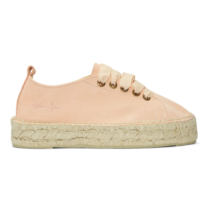 New For Sale MANEBI Manebí Hamptons Pink Suede And Jute Espadrilla Sneaker Store With Big Discount Buy Cheap Low Shipping sh9qnsfp