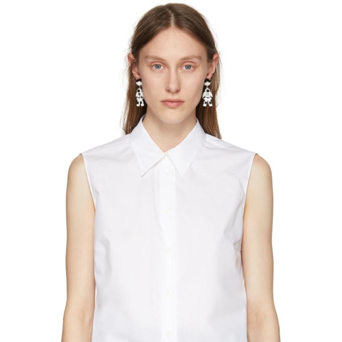 White Pop Rock Astronaut Drop Earrings Prada j0Cu3eNi