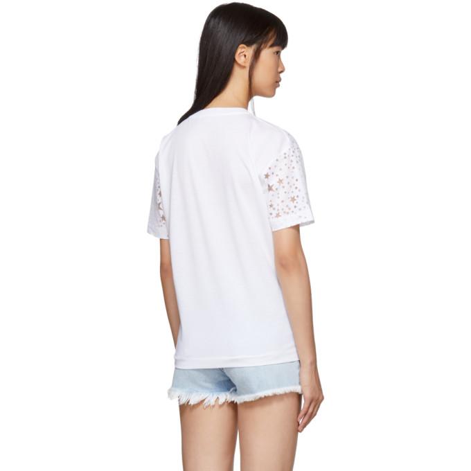 Blanc out Mccartney Stars T Cut shirt Stella rdxoQCBeEW