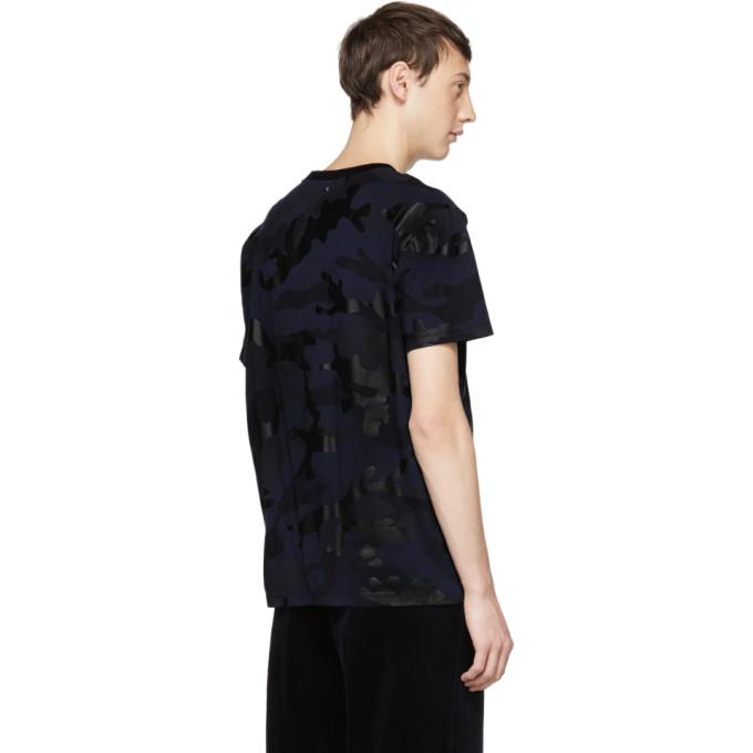 Motif shirt Valentino Bleu Camouflage Marine T À CxeWrdBo