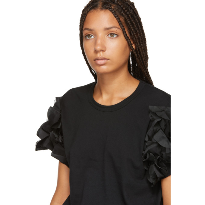 Comme shirt T À Volants Des Garçons Noir Manches fvb76gYIy
