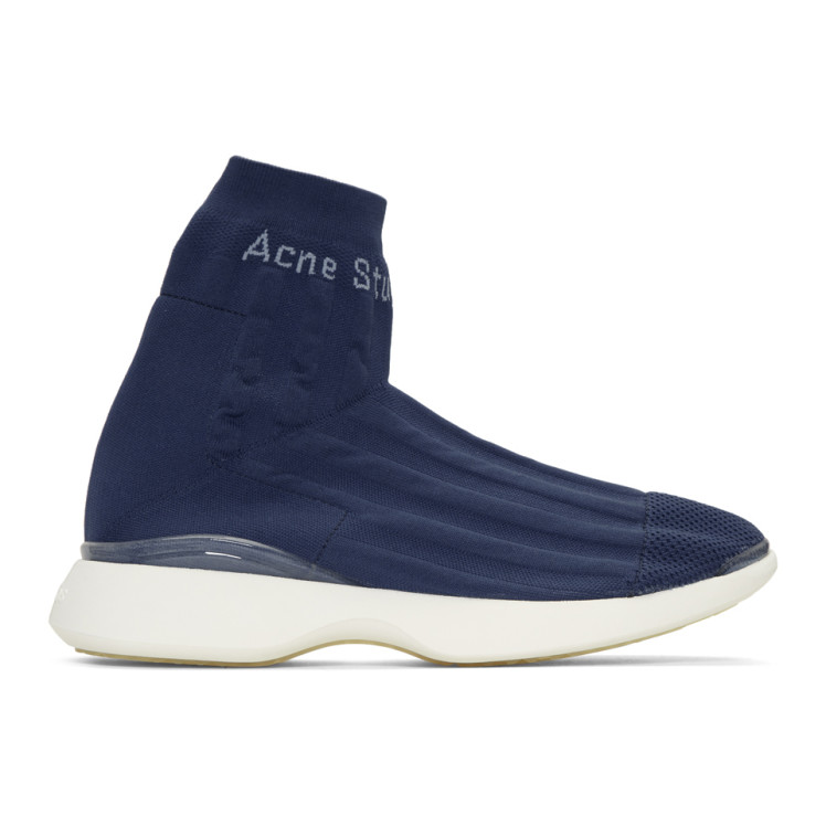 Blue Tristian High-Top Sneakers Acne Studios sD7Pq5W
