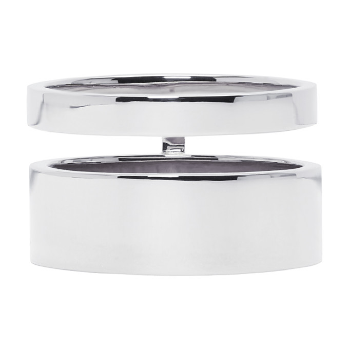 REPOSSI WHITE GOLD DOUBLE BAND BERBERE RING