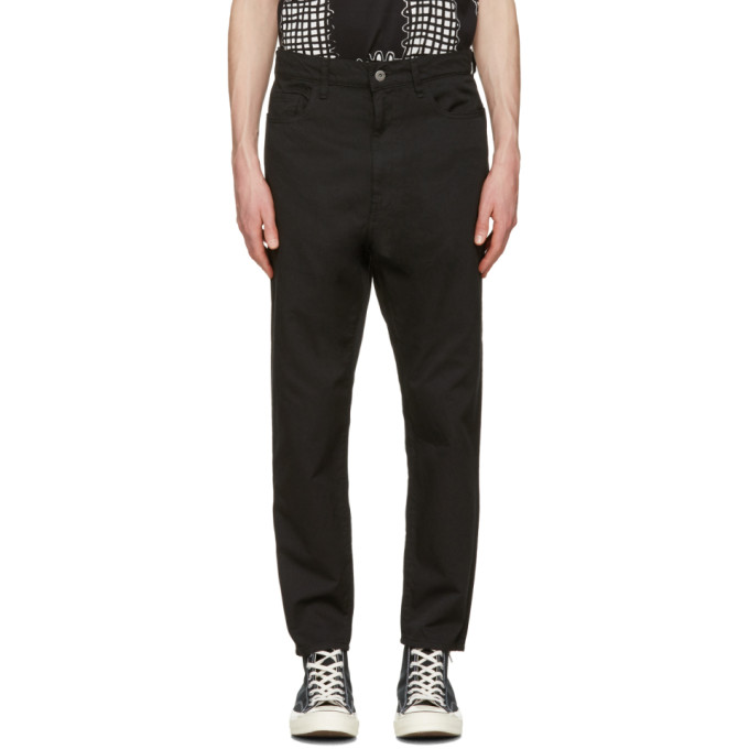 Black Stretch Jeans by Junya Watanabe