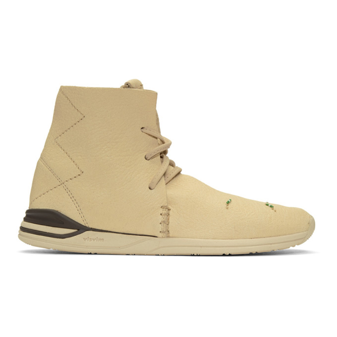 VISVIM OFF-WHITE HURON MOC HIGH-TOP SNEAKERS