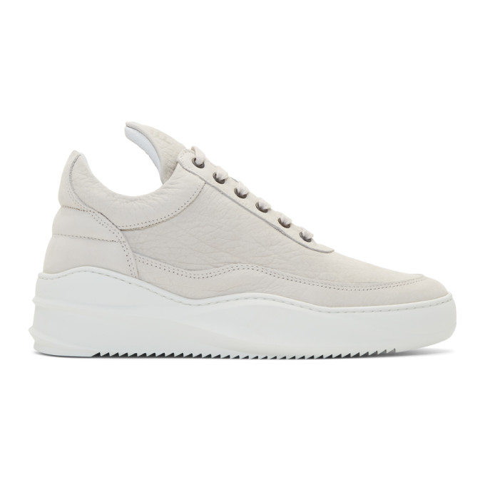 Off White Low Sky Sneakers by Filling Pieces