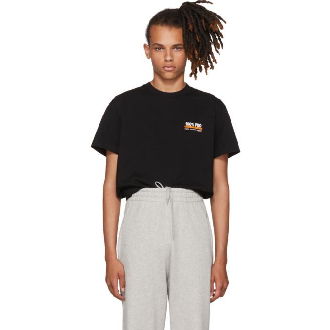 Black '100% Pro' Standard T Shirt by Vetements