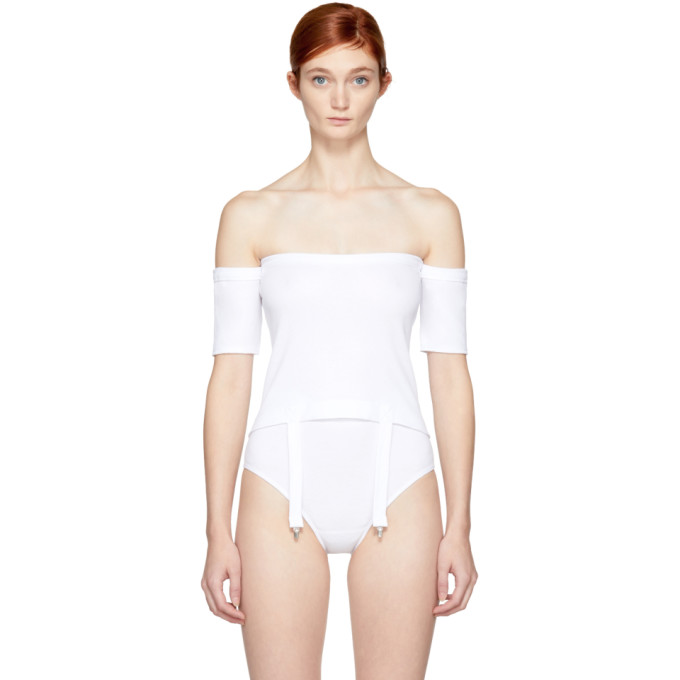 MARIEYAT WHITE CLEA OFF-THE-SHOULDER TOP