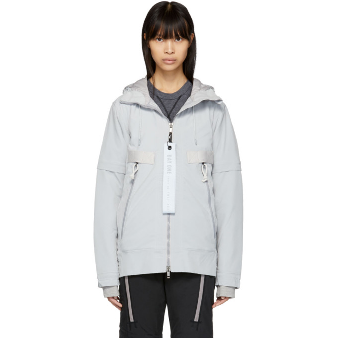 Adidas Day One Grey Polar Tech Lightweight Jacket